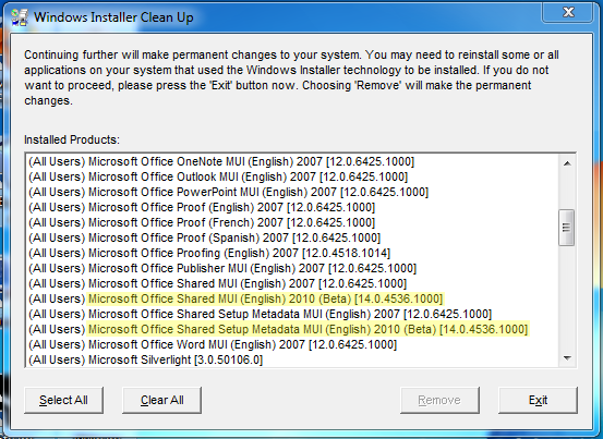 Msi Cleanup Utility
